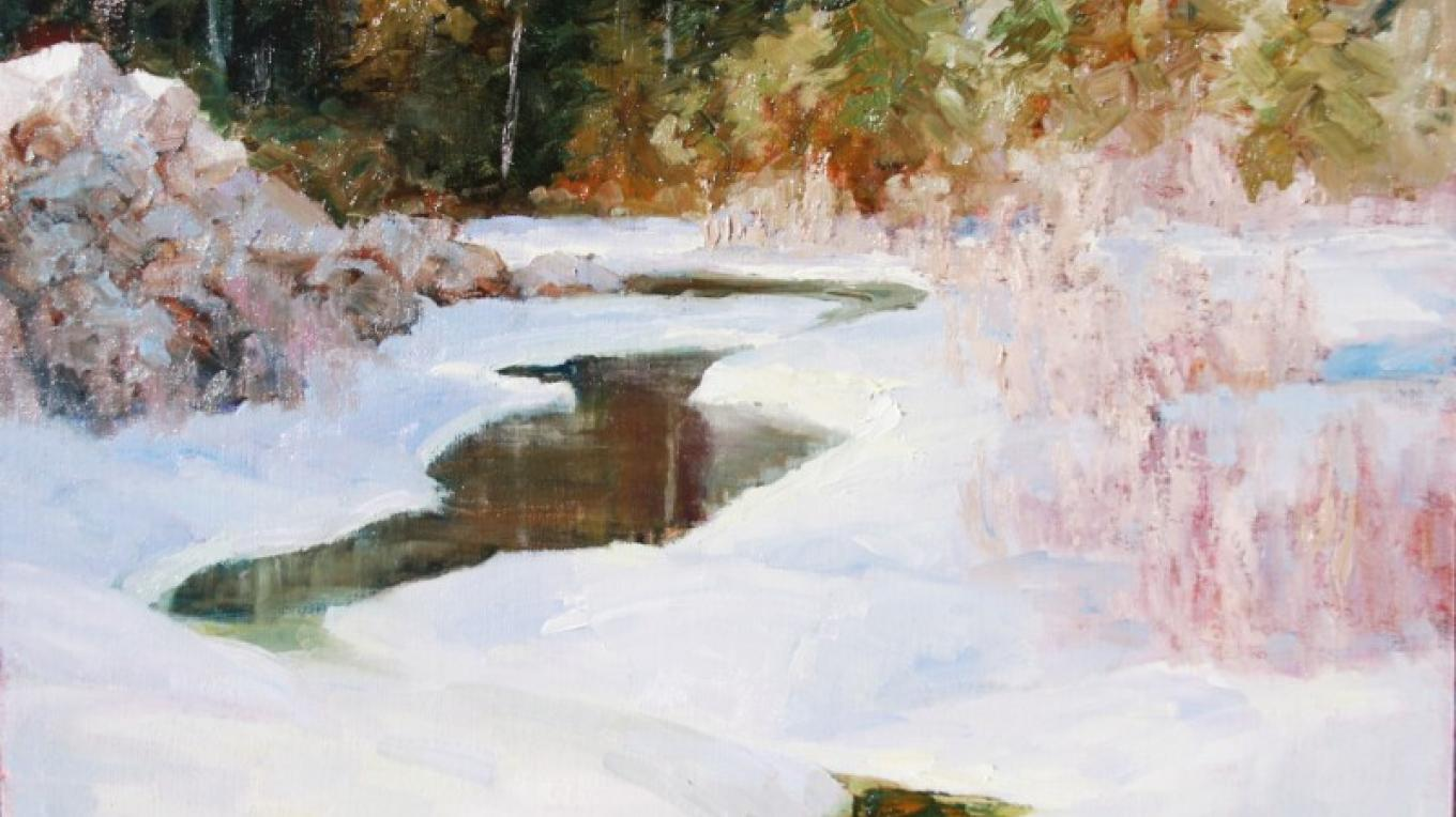 """Blacktail Creek"" - near Gibson Dam – Linda Tippetts"