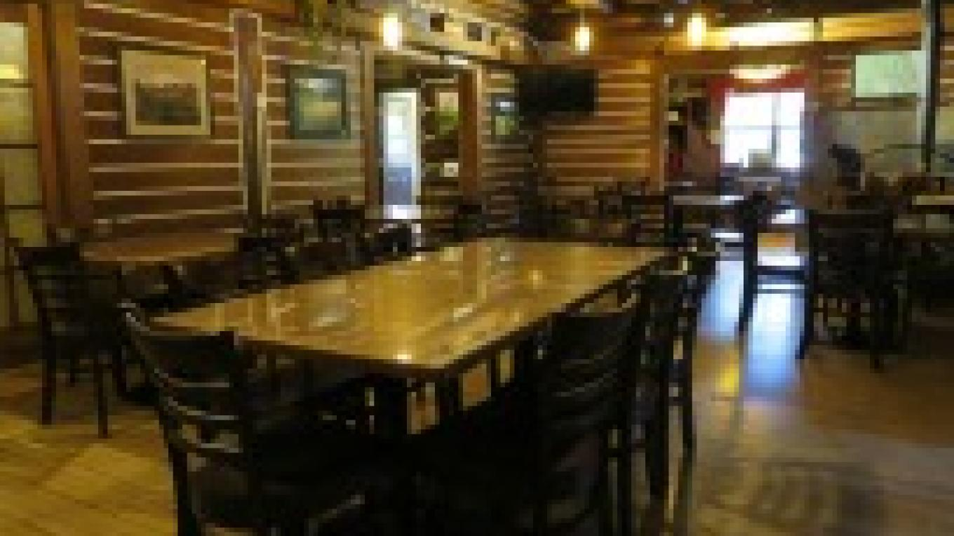 Restaurant area serving dinner seven days a week (seasonal hours may apply) – Historic Tamarack Lodge and Cabins