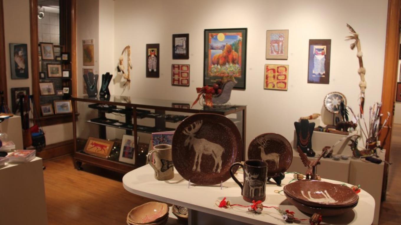 The Hockaday Gift Gallery features juried works from Montana artists and a variety of commemorative items from Museum exhibits. – Brian F. Eklund