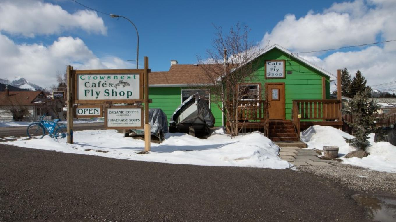 Crowsnest Cafe and Fly Shop is located on Highway 3 in the Crowsnest Pass Community of Coleman. – Sheena Pate