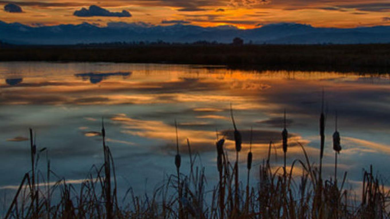 Ninepipe National Wildlife Refuge at sunset. – Dave Fitz / Courtesy Fish and Wildlife Service