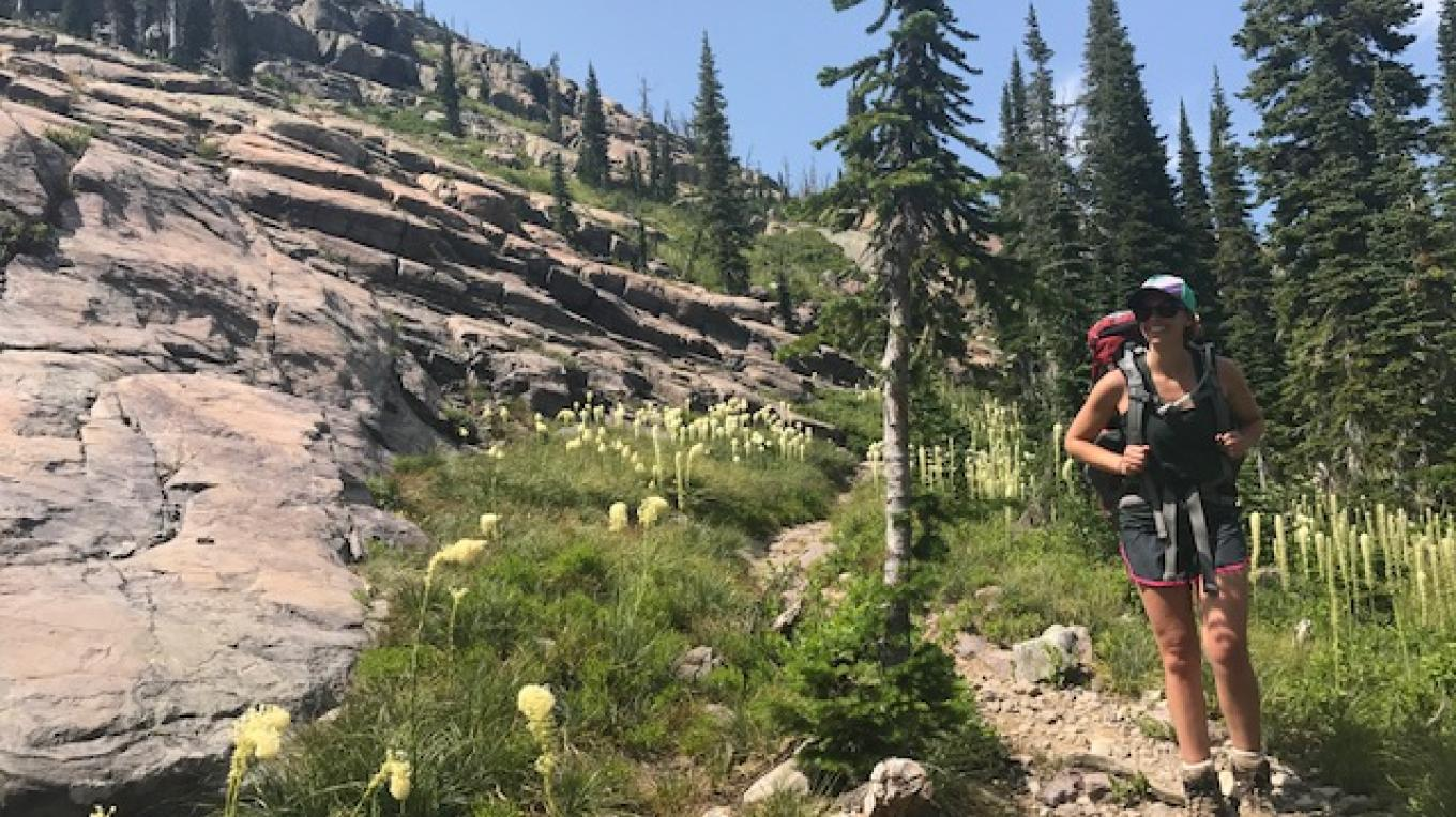 Endless bear grass and rocks on the hike – Carrie K