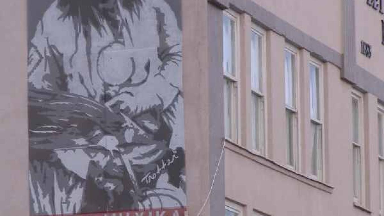 Aboriginal leaders figure prominently in Downtown  Lethbrdige Public Art. – gwd   G.Wayne Dwornik