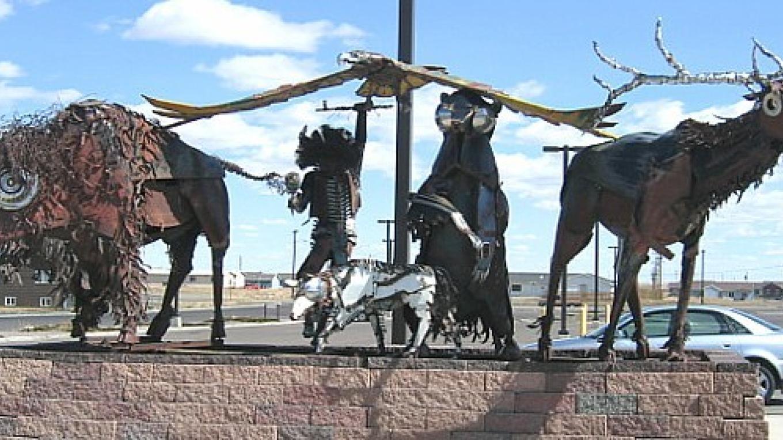 Metal sculptures by the Blackfeet Community Hospital – Colleen's Computer Corner, LLC