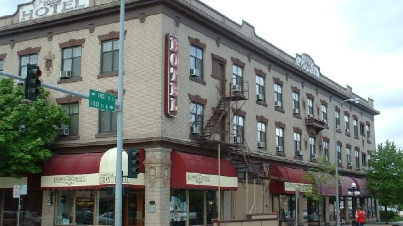 Kalispell Grand Hotel is located on Main Street in downtown Kalispell – Courtesy Kalispell Grand Hotel