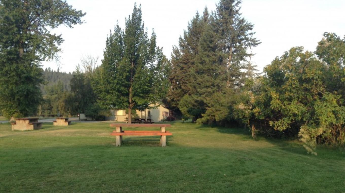 Plenty of grass for a picnic or you can sit at our many picnic tables.