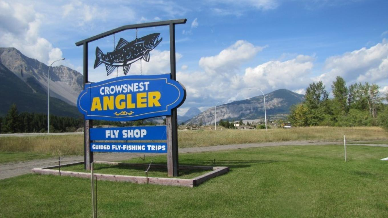 Crowsnest Angler is located just off Highway Three at the eastern extremity of the Crowsnest Pass community of Bellevue. – Sheena Pate
