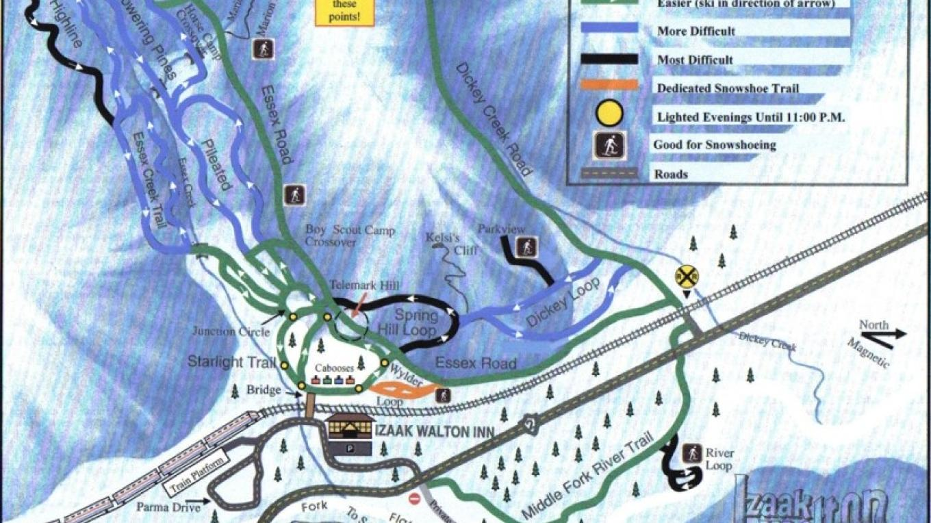 Izaak Walton Ski Trail Map