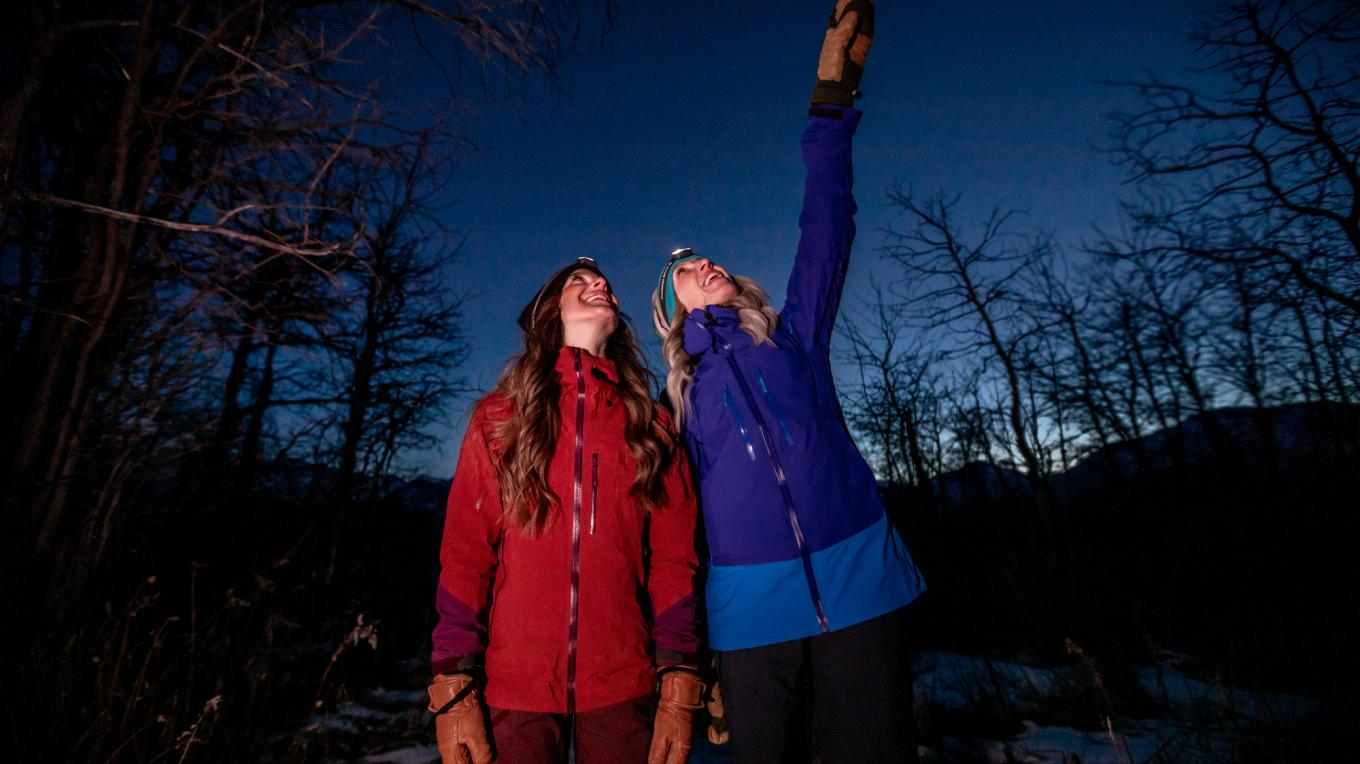 Our Travel Alberta ALTO Award-winning tour is for the adventurous! Featuring a longer and more-physically-demanding night hike, the Adventure Tour takes participants away from the roads and lights, and into the backcountry. – Photo courtesy Travel Alberta / John Price