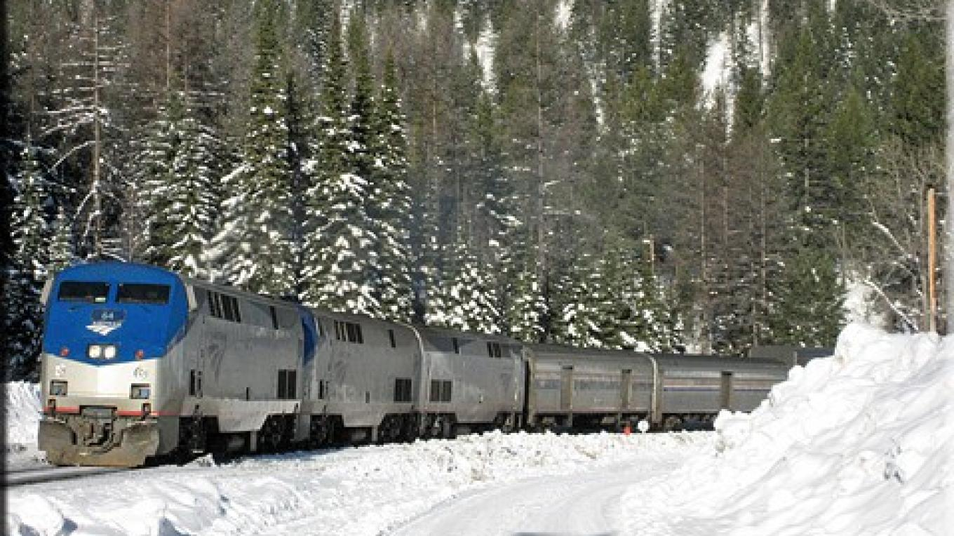 Amtrak's Empire Builder en route to the Izaak Walton Inn – Courtesy Izaak Walton Inn