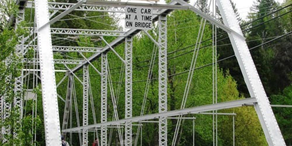 Bigfork Bridge - One car at a time! – E.A.Summers