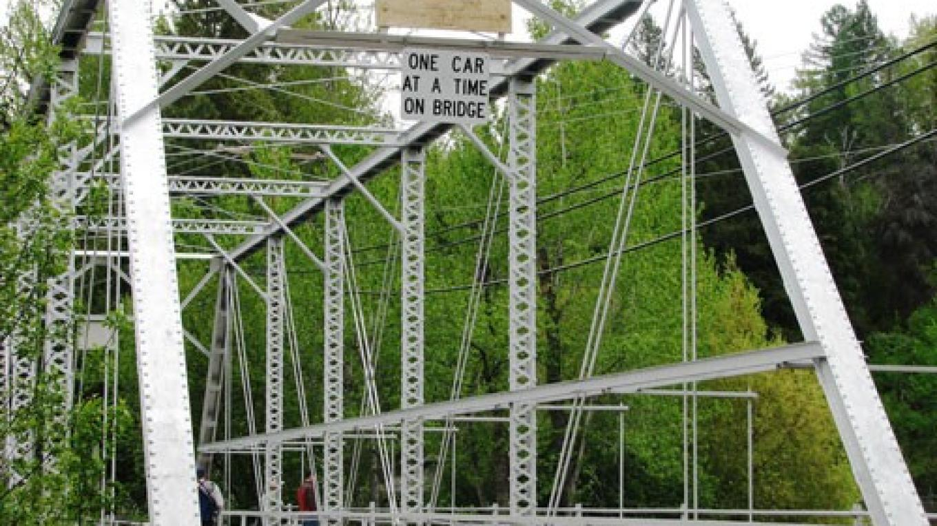 Bigfork Bridge - One car at a time! – E.A.Summers