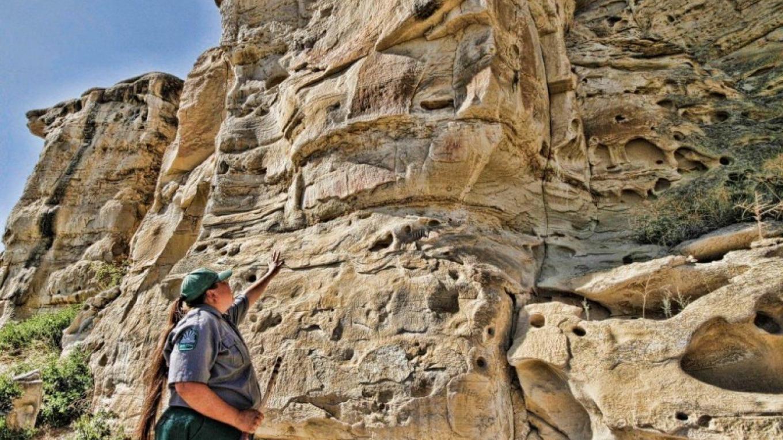 Rock Art Tours at Writing-on-Stone Provincial Park / Áísínai'pi National Historic Site – J. Novotny, Alberta Parks