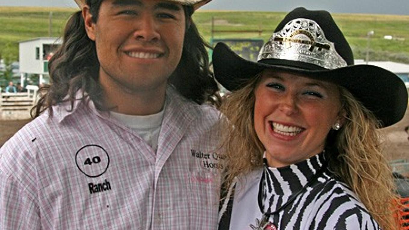 Rodeo stars: Steer wrestler Otys Walter and Pincher Creek Miss Rodeo Kate Fullerton. – David Thomas