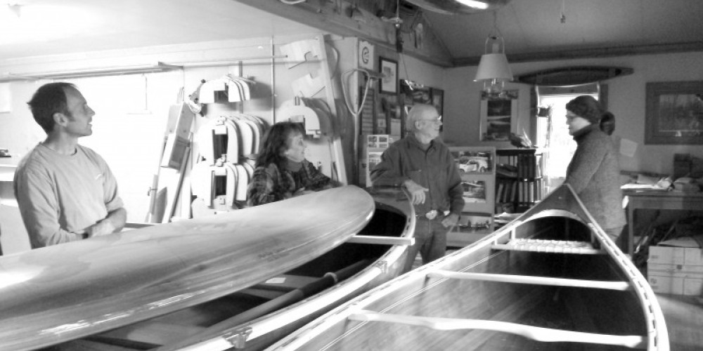 Catching up with locals around Morley Canoes showroom. – Sheena Pate