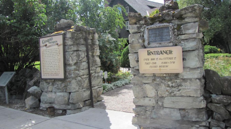 Entrance to Conrad Mansion