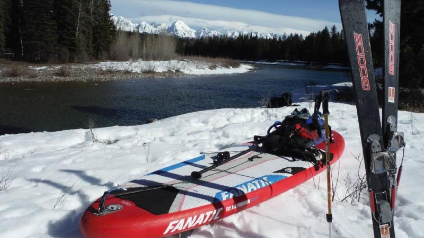Skinning on the North Fork of the Flathead River
