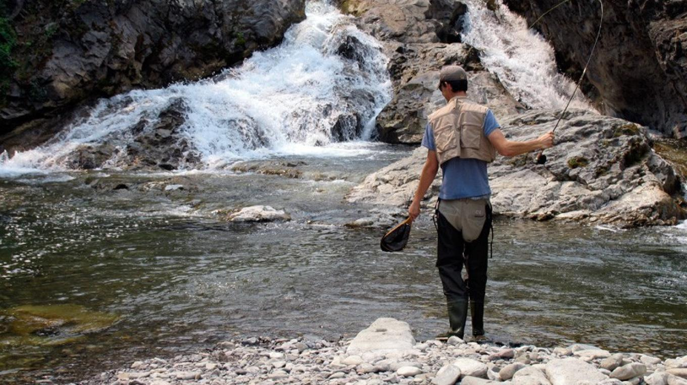 Falls on Lynx Creek are home to native cutthroat trout – David Thomas