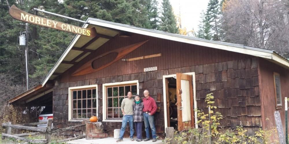 Morley Canoes master craftsmen: Greg, Steven and Anne Morley.
