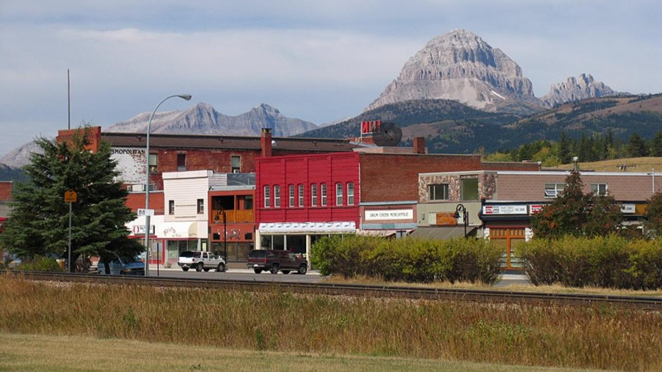 Stone's Throw Cafe is located at the mid-point of downtown Blairmore. – David Thomas