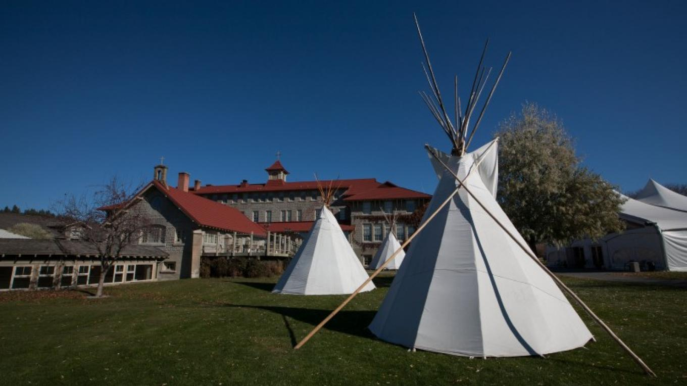 An encampment at St. Eugene Mission illustrates the convergence of tradition and modernity. Through Speaking Earth programs visitors can choose an itinerary comprised of cultural activities and events. – Sheena Pate