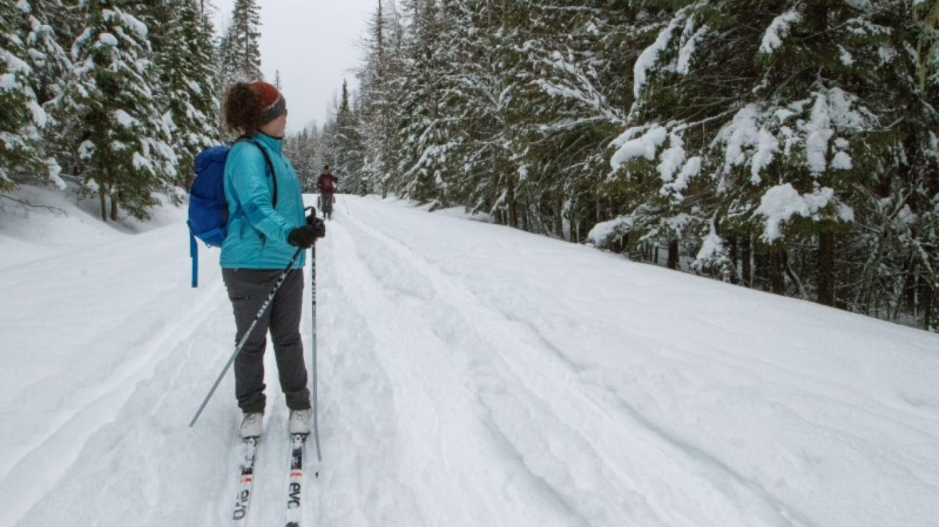 XC Skiing in Glacier National Park. – Sheena Pate