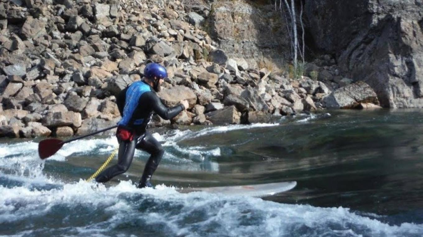 Surfing on the South Fork of the Flathead River