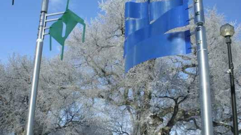Wind-themed public art on the east end of Galt Gardens – gwd   G.Wayne Dwornik