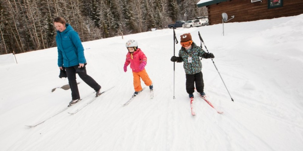 Dog Creek Lodge & Nordic Center warm-up loop makes for a great kid's loop too. – Sheena Pate