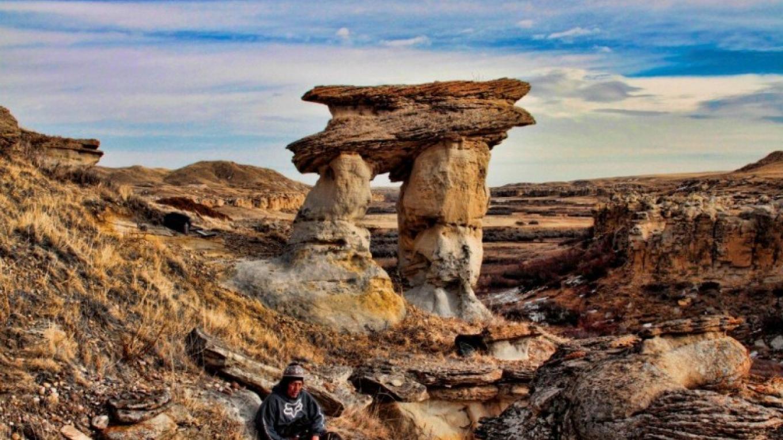 Table Rock in the Archeological Preserve, Writing-on-Stone Provincial Park / Áísínai'pi National Historic Site – J. Novotny, Alberta Parks