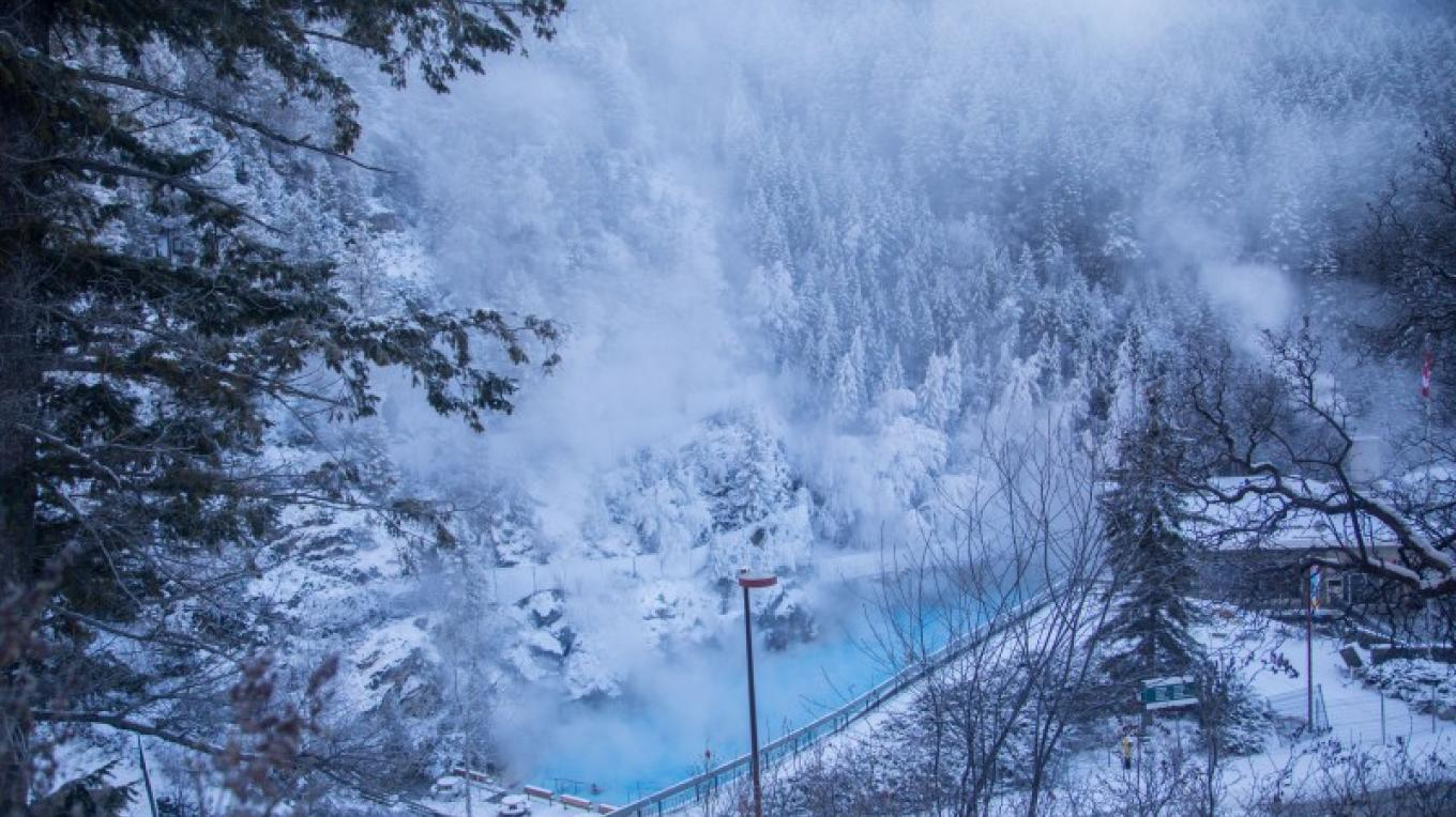 Soak in the naturally hot mineral waters of Radium Hot Springs. – Olivia Robinson