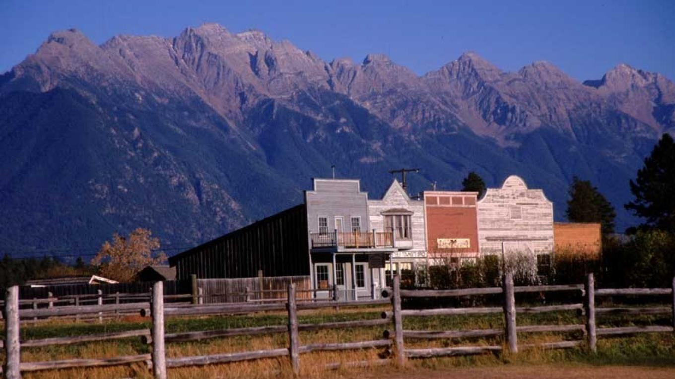 A completely reconstructed frontier town with a spectacular Rocky Mountain backdrop. – Chris Dadson