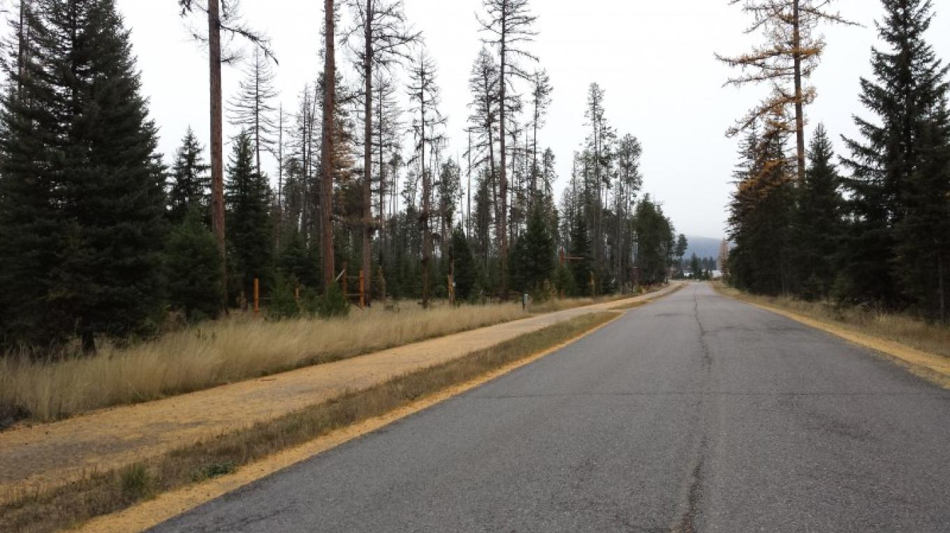 Pedestrian/bike trail runs through town and to Seeley Lake.
