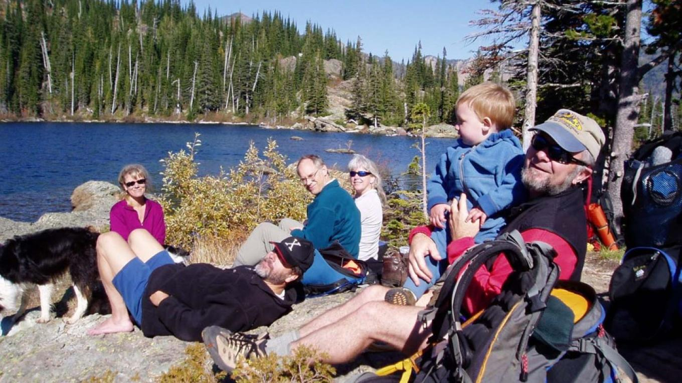 Taking a break at Crater Lake in Jewel Basin Hiking Area. – Swan View Coalition