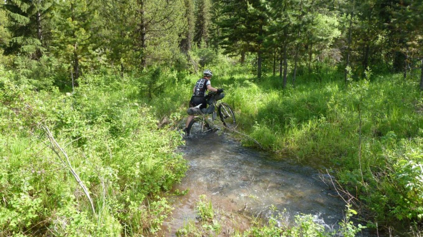 Hike A Bike Section On SingleTrack – Cricket Butler