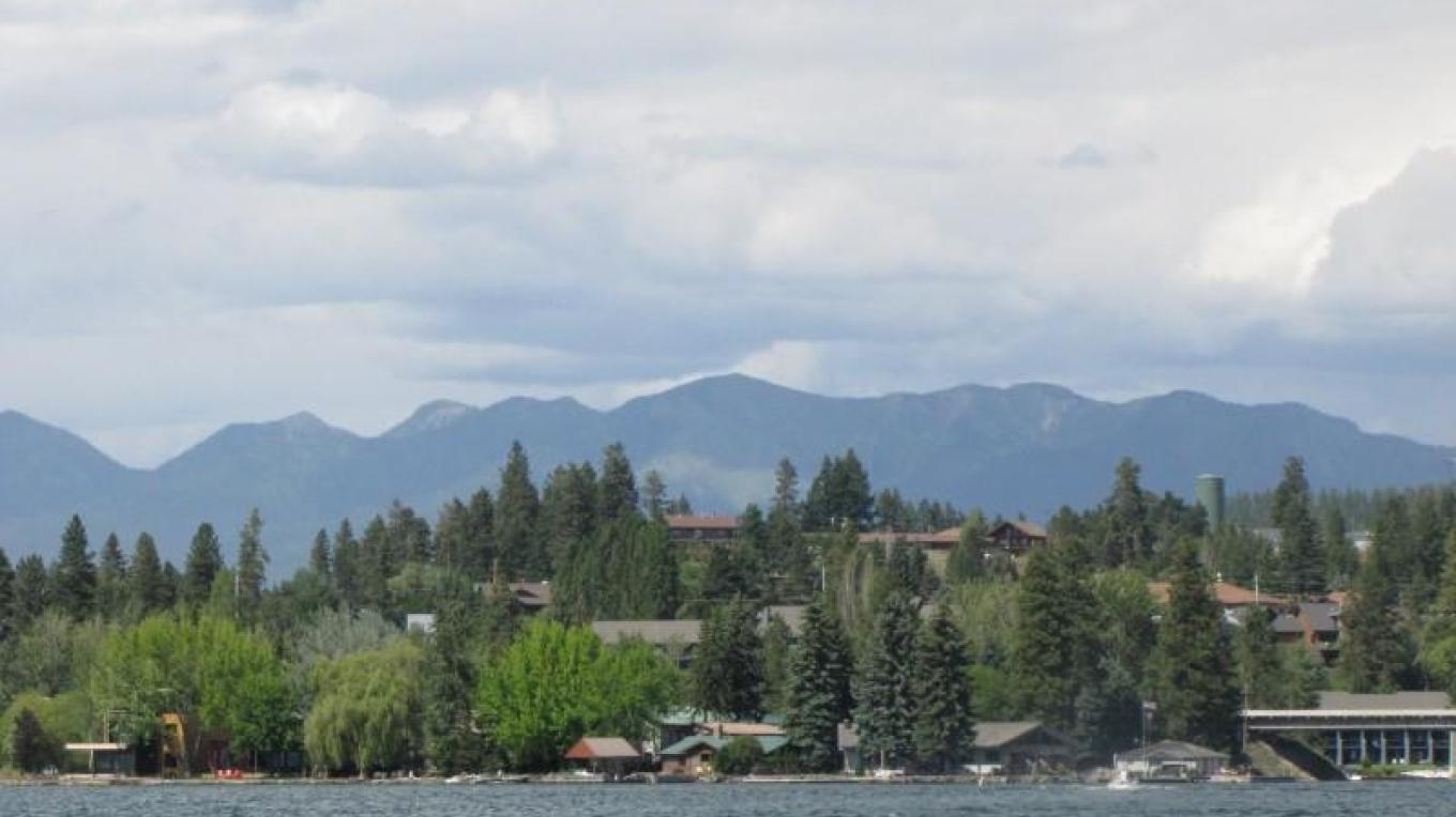 Looking north towards Bigfork Bay and the charming town of Bigfork. - S. Pate