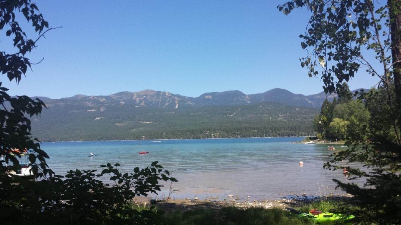 Views of Big Mountain from the swimming beach. – Sheena Pate