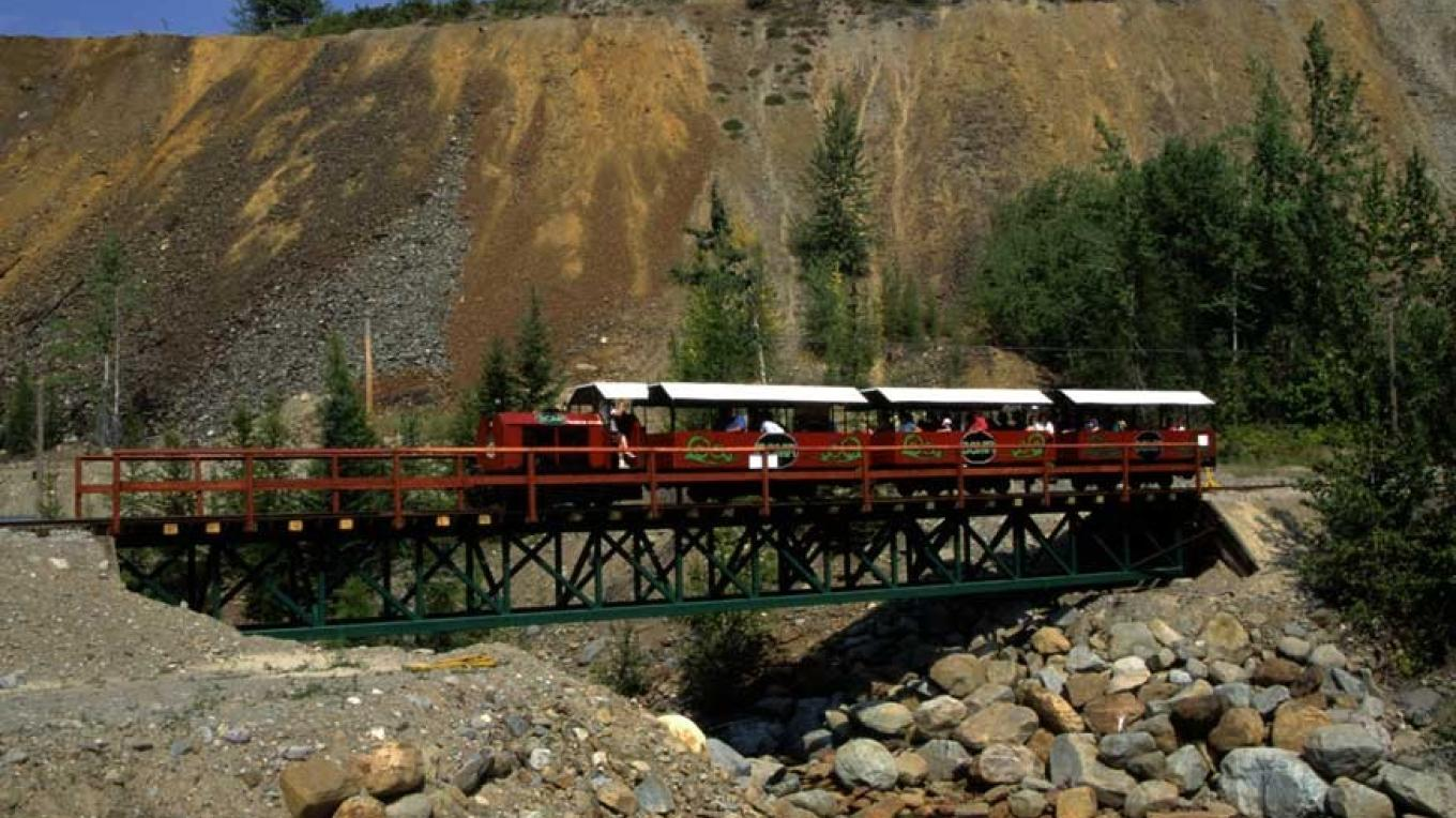 This authentic mining railway tour links the downtown with the site of the old Sullivan Mine and the Kimberley Alpine Resort. – Don Weixl