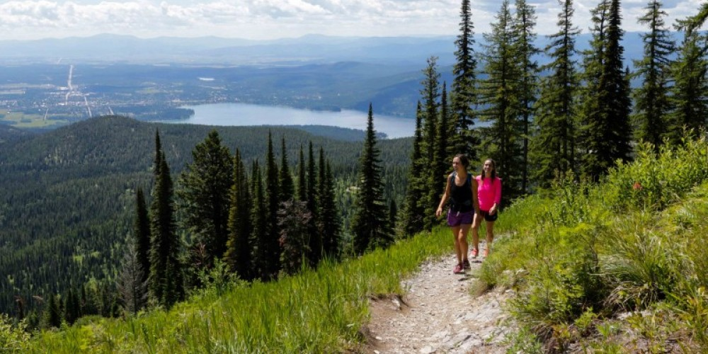 Hiking Danny On with views of Whitefish Lake and Flathead Lake below. – Mike Beall