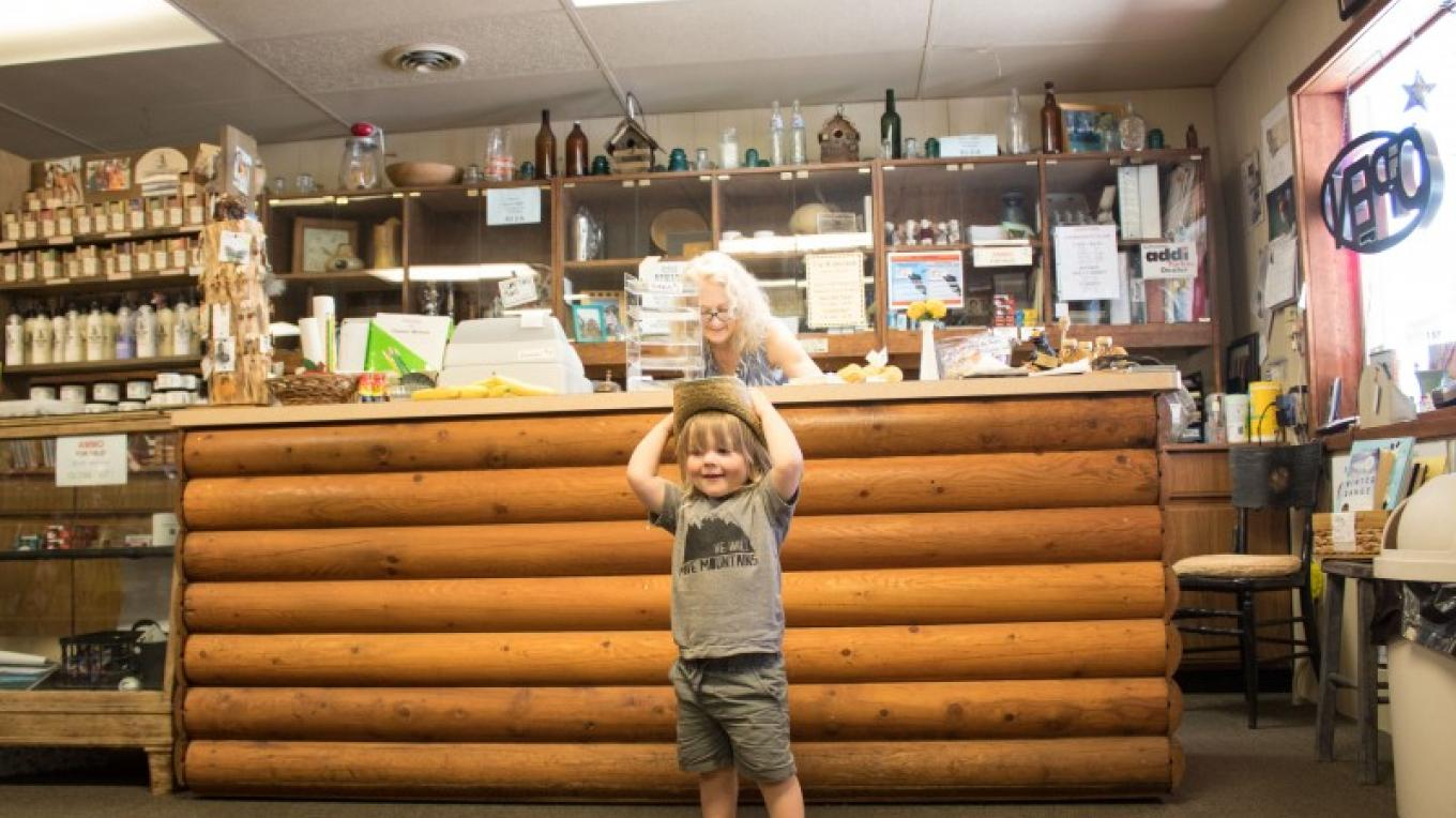 Dupuyer Cache is a favorite stop for all ages. – Sheena Pate