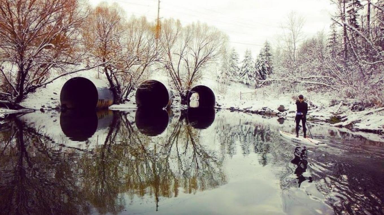 Whitefish Urban Paddle in Winter