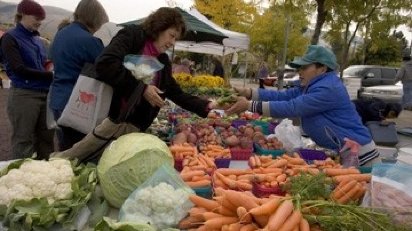 Farmers' Markets provide a fun way to support local farmers. – Pam Voth