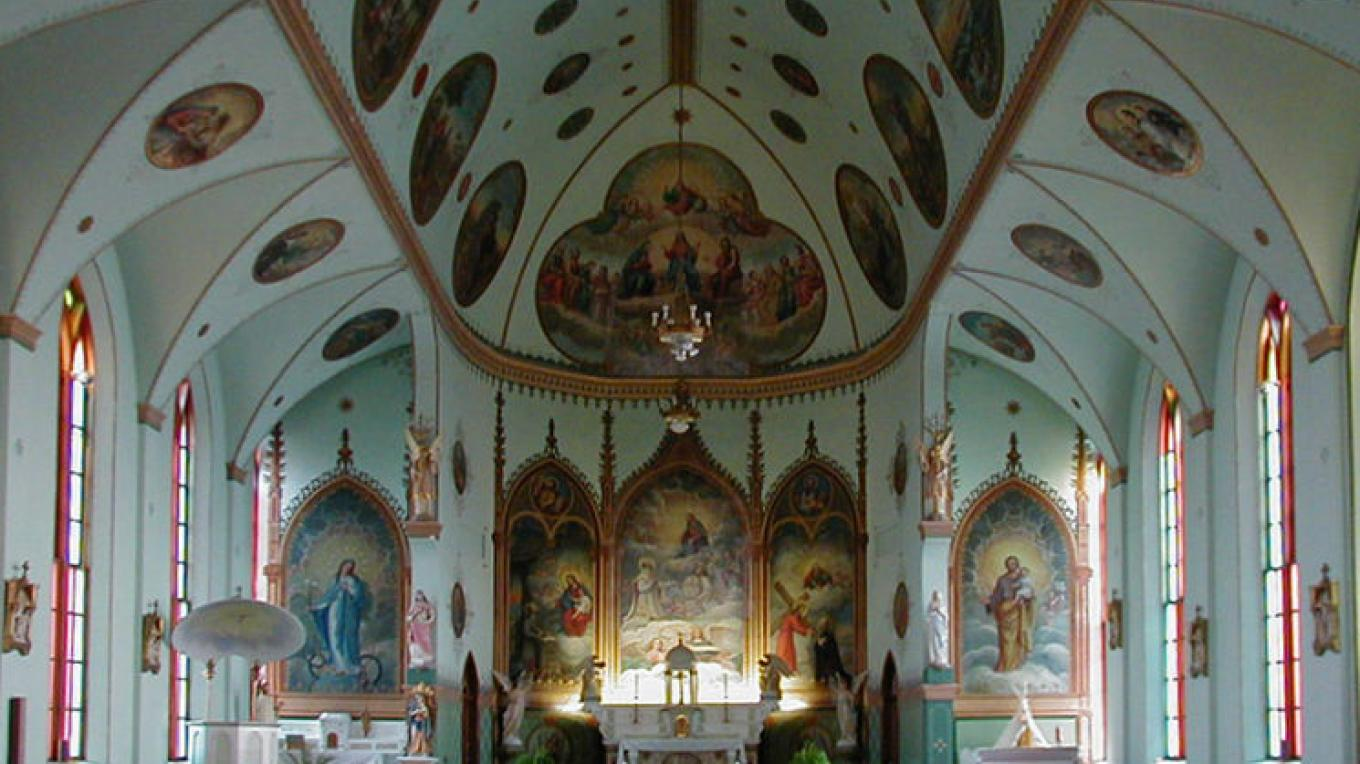 The St. Ignatius Mission Church is noted for its original paintings from the early 1890s by Brother Joseph Carignano – Loren Vine
