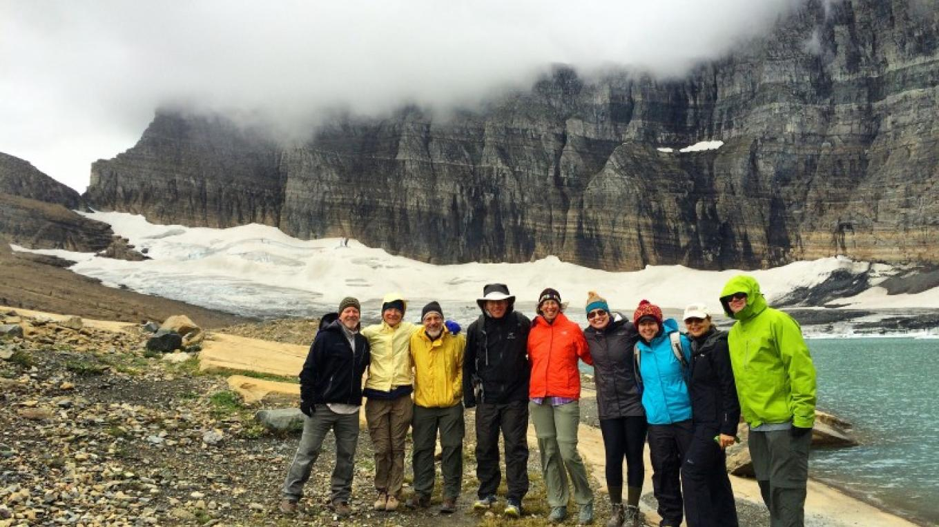 Discovery Week Participants at Grinnell Glacier