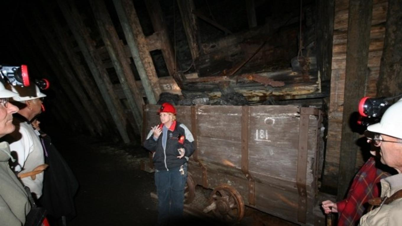 Guided tour of the Bellevue Mine – Courtesy Alberta Culture and Community Spirit