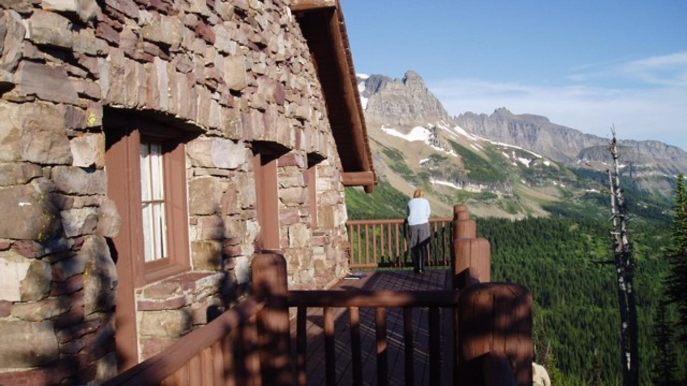 Glacier National Park's historic chalets are included in some of our backpacking trips. This is Granite Park Chalet, on the Highline Trail. – Glacier Guides and Montana Raft