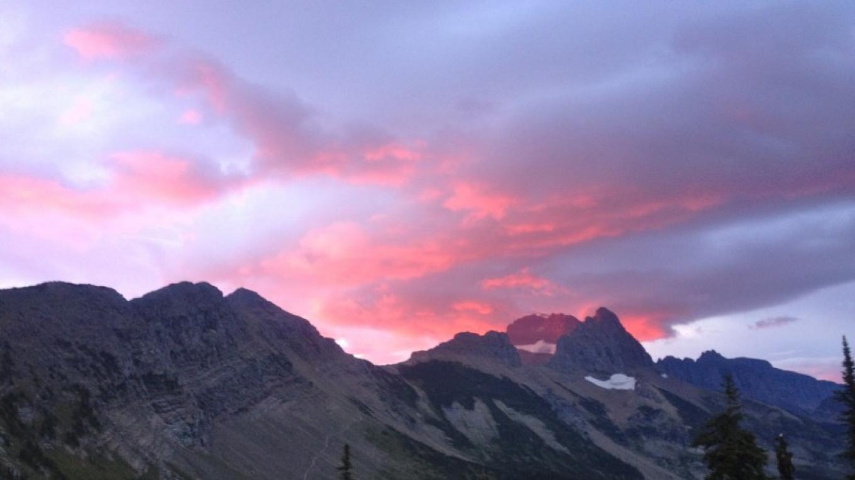 Sunrise at Granite Park Chalet.
