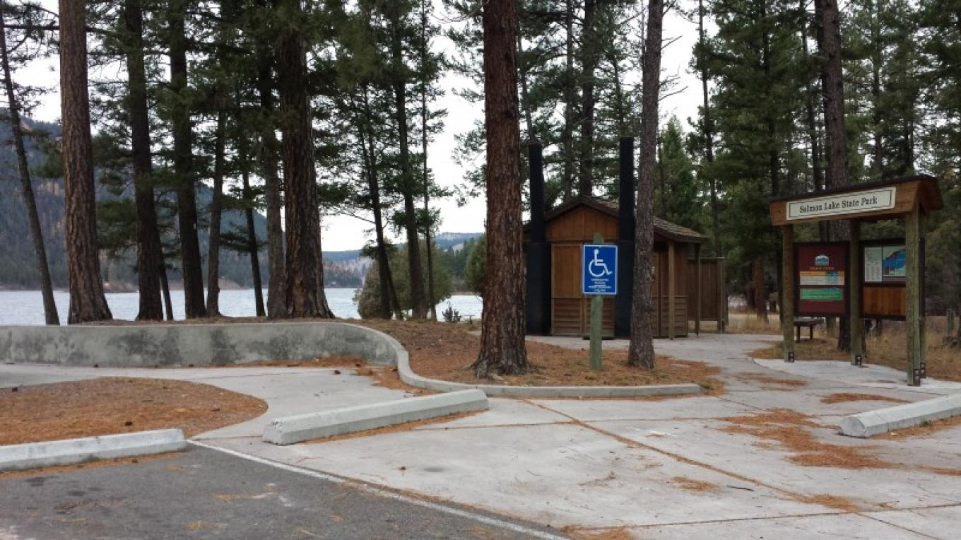 Salmon Lake State Park Entrance