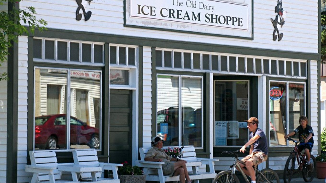 Old Dairy ice cream emporium draws locals and campers seeking relief from summer's hottest weather. – David Thomas