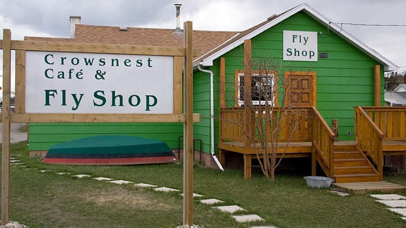 Crowsnest Cafe and Fly Shop is located on Highway 3 in the Crowsnest Pass Community of Coleman. – David Thomas